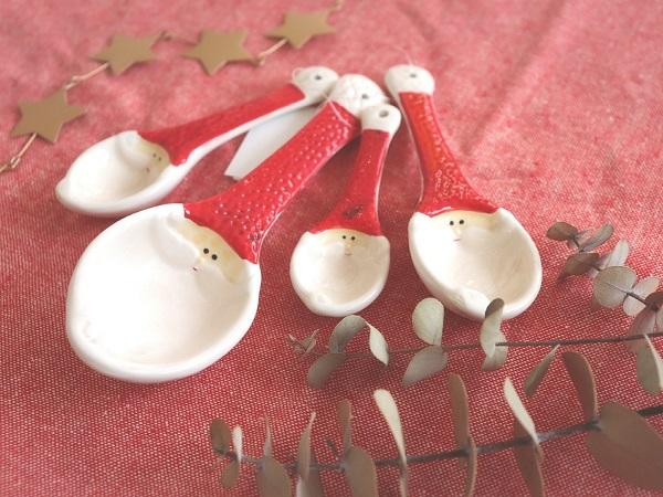 クリスマスの食器(サンタスプーン)