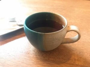 丹波焼のマグカップ